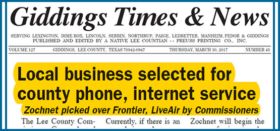 ZOCHNET Offers Phone and Internet to Lee County