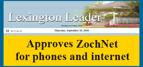 ZOCHNET Offers Phone and Internet to Lexington